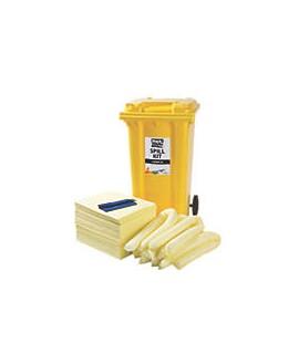 120 Ltr Chemical Spill Kit - 2 Wheeled Bin