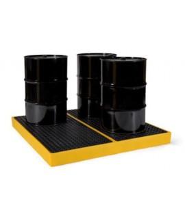 Prestige 4 Barrel Polyethylene Spill Pallet / Workfloor