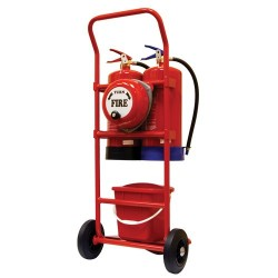 Double Fire Extinguisher Trolley with bell