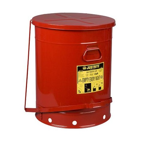Solvent or Flammable waste container foot operated bin - 80 Litre Justrite 09700