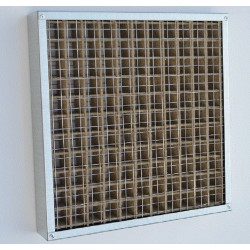 Intumescent Fire Grille 100x100mm to 250x250mm wide
